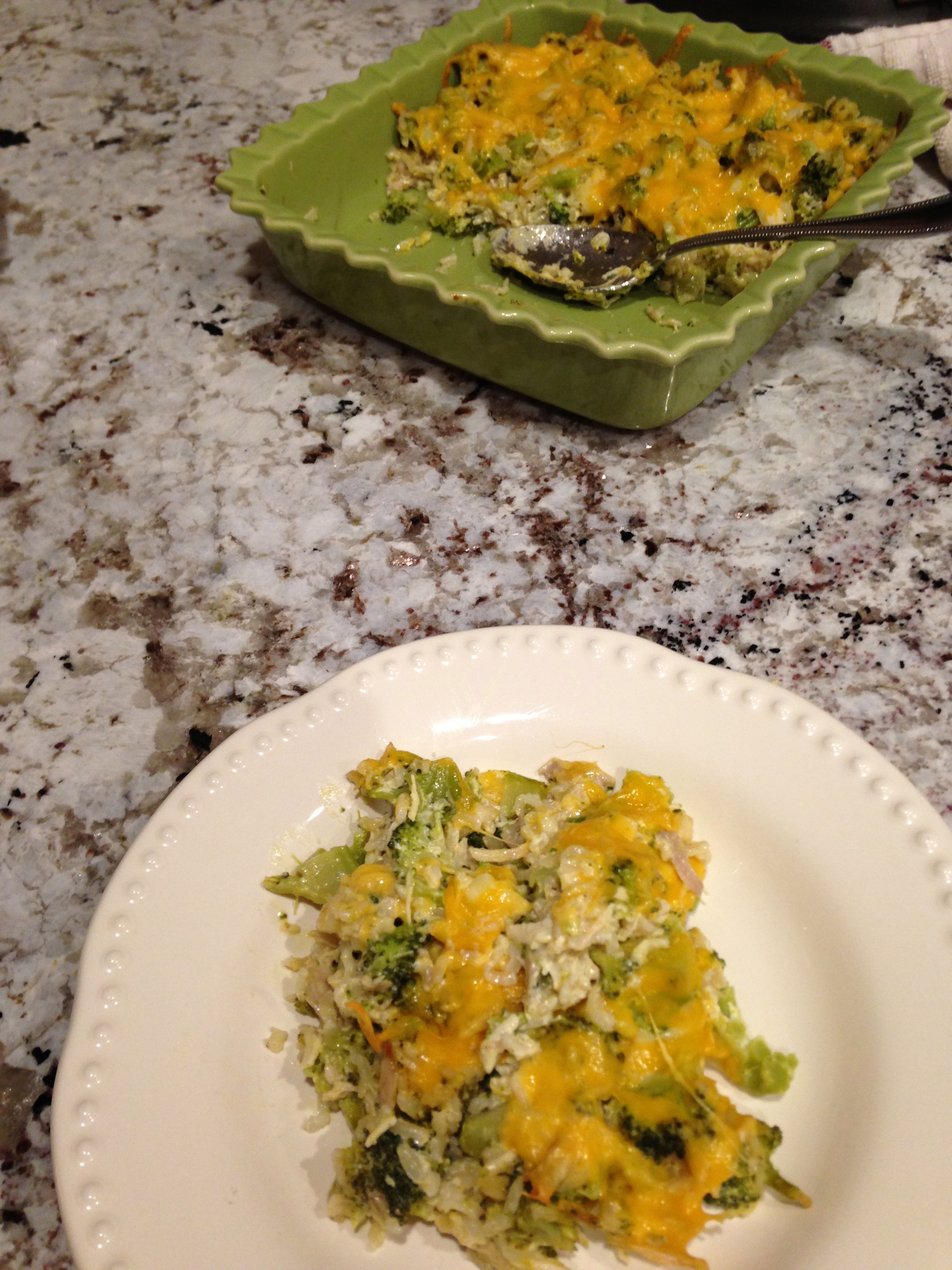 No Canned Soup Broccoli Chicken Rice Cheddar Casserole