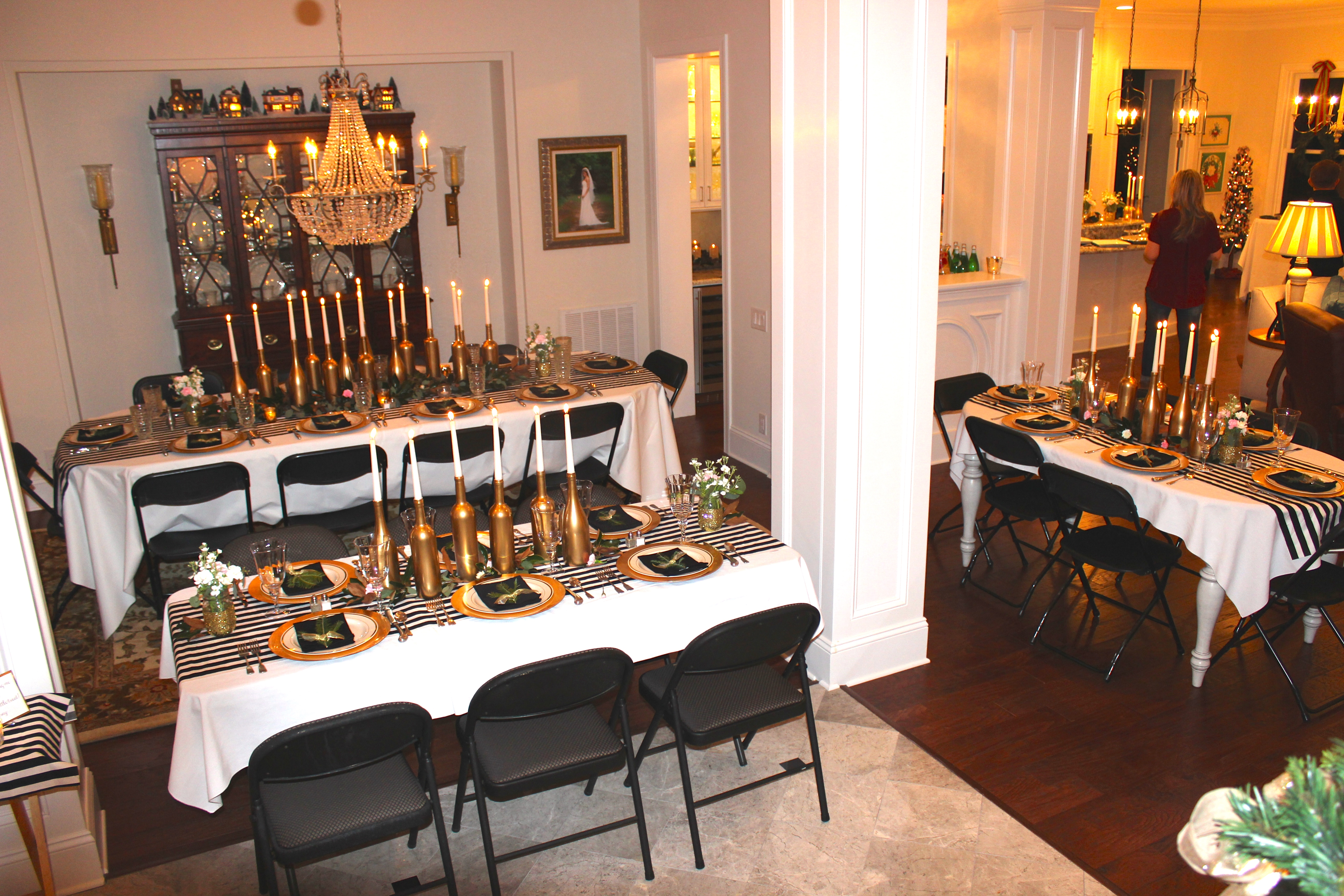 Birthday Dinner Party Ideas Part - 45: Gold, Black, And White: My 30th Birthday Dinner Party - SevenLayerCharlotte