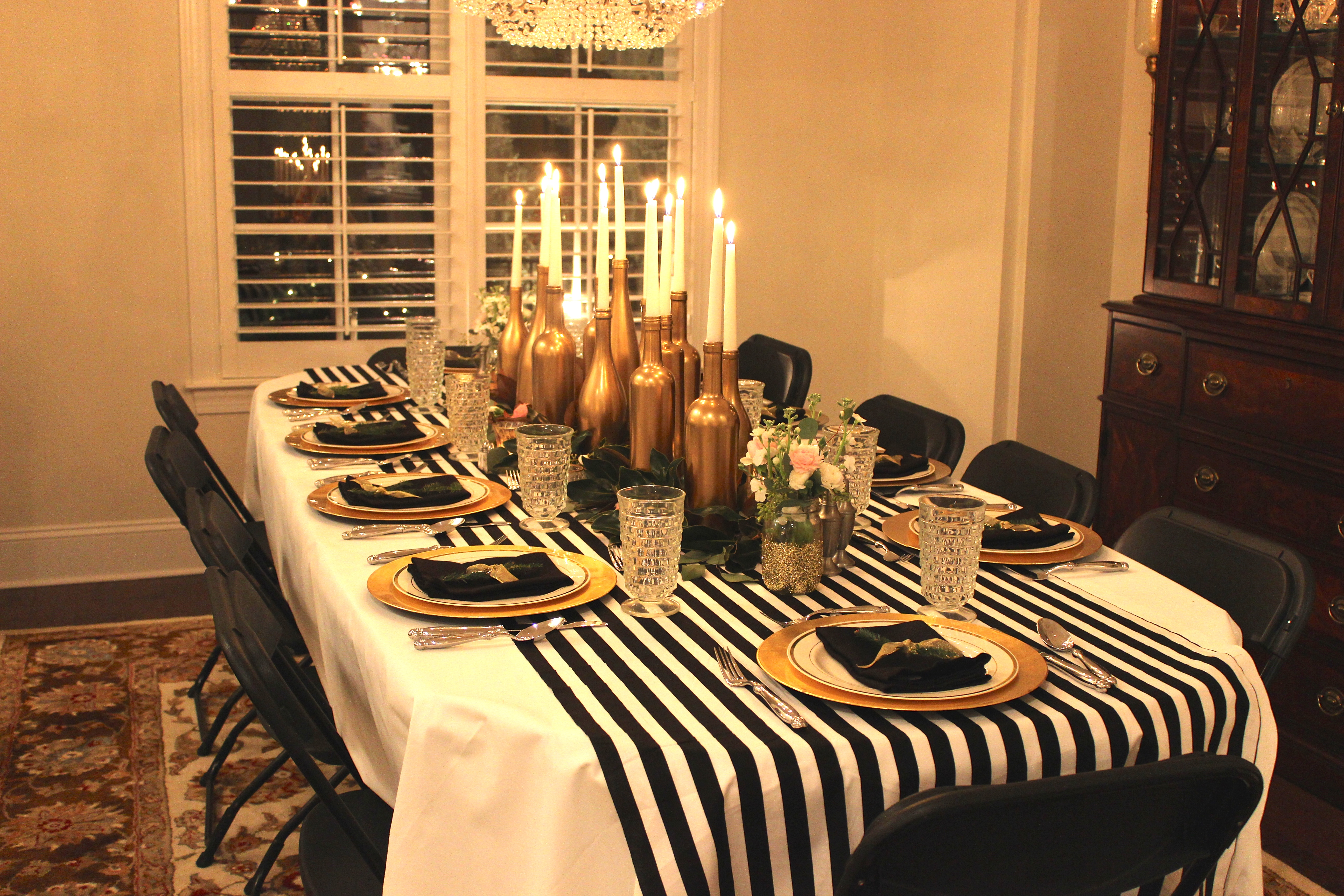 Good Gold, Black, And White: My 30th Birthday Dinner Party   SevenLayerCharlotte
