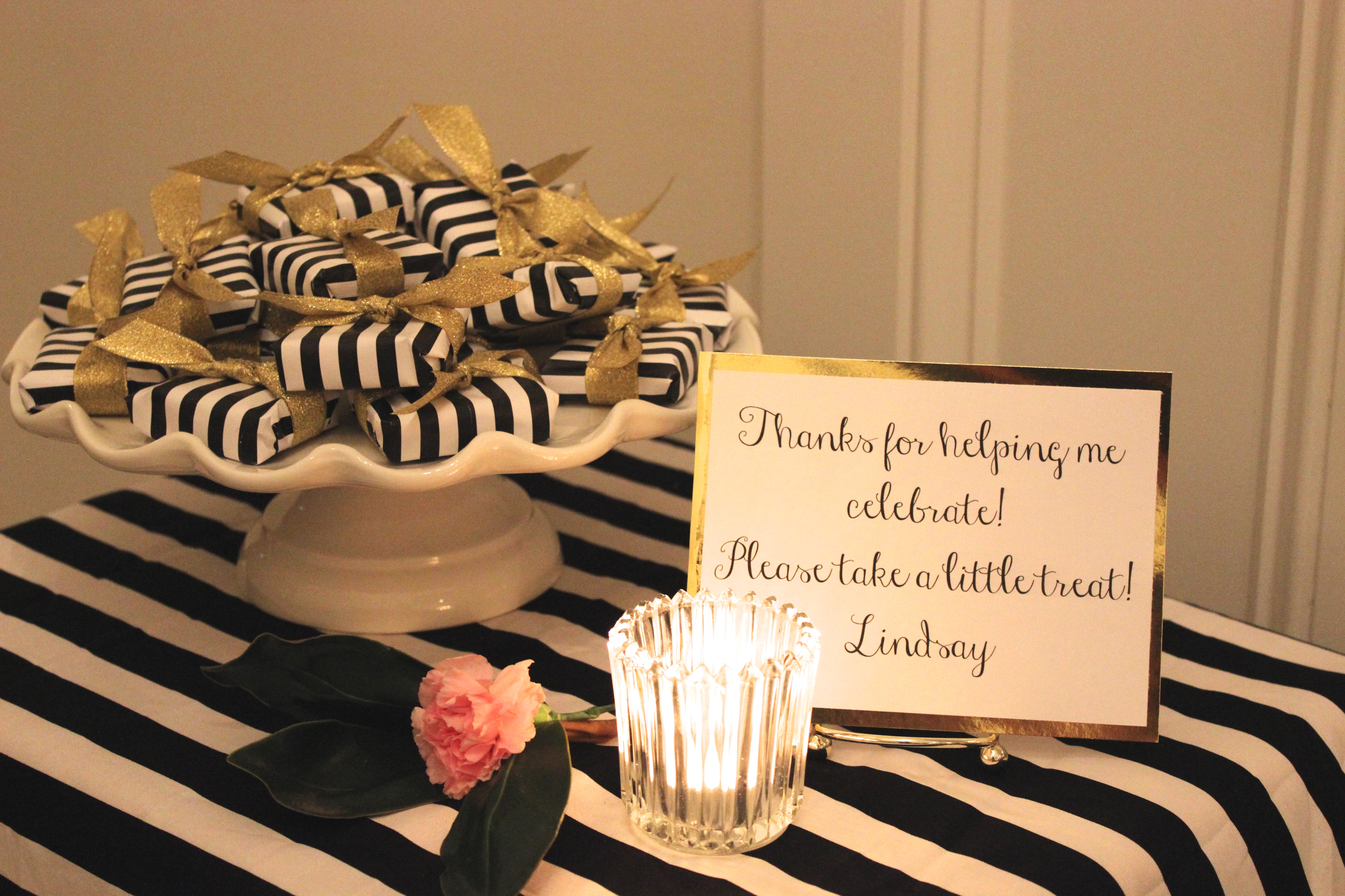 Gold, Black, and White: My 30th Birthday Dinner Party ...