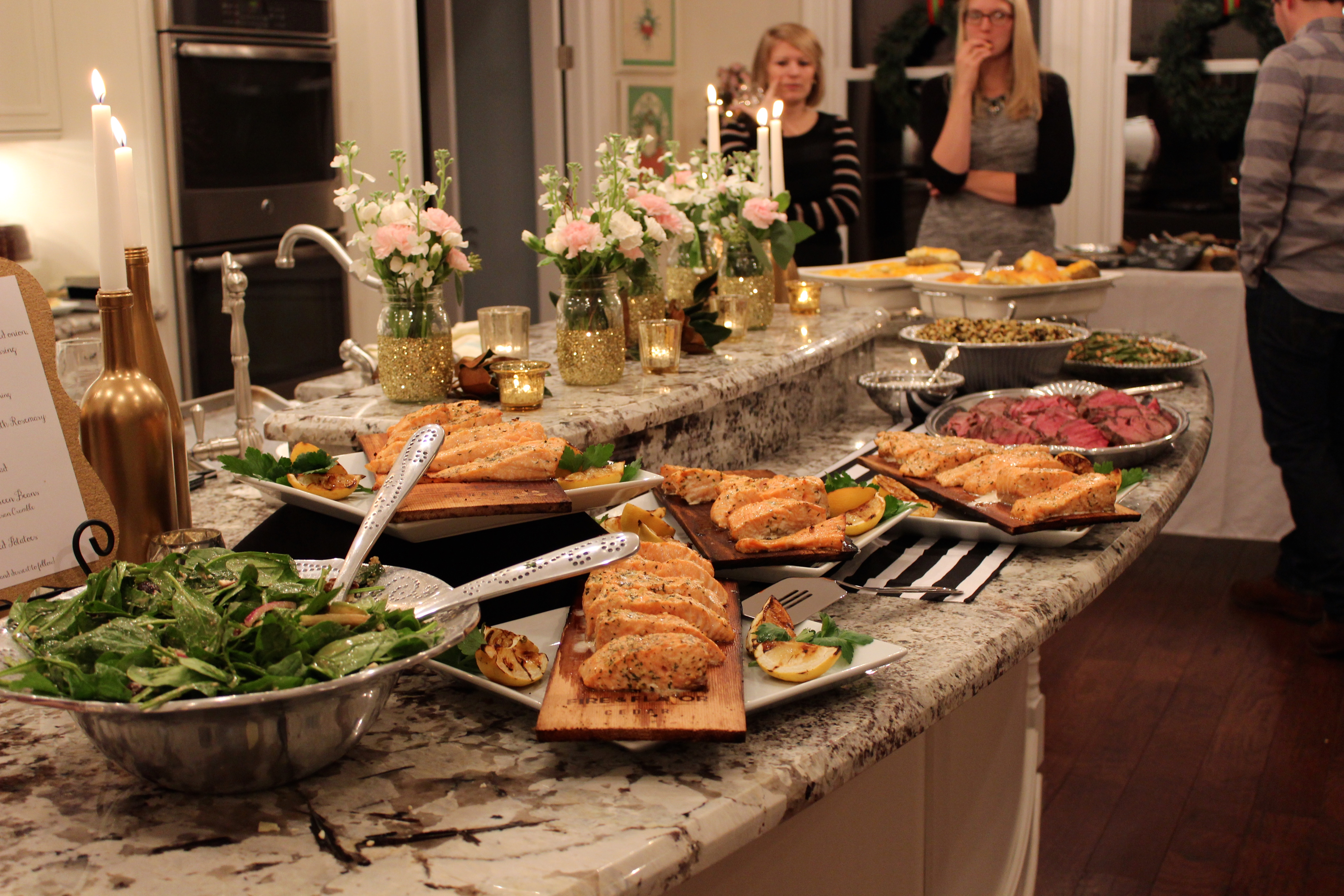 Dinner Ideas For A Birthday Party Part - 19: Gold, Black, And White: My 30th Birthday Dinner Party - SevenLayerCharlotte