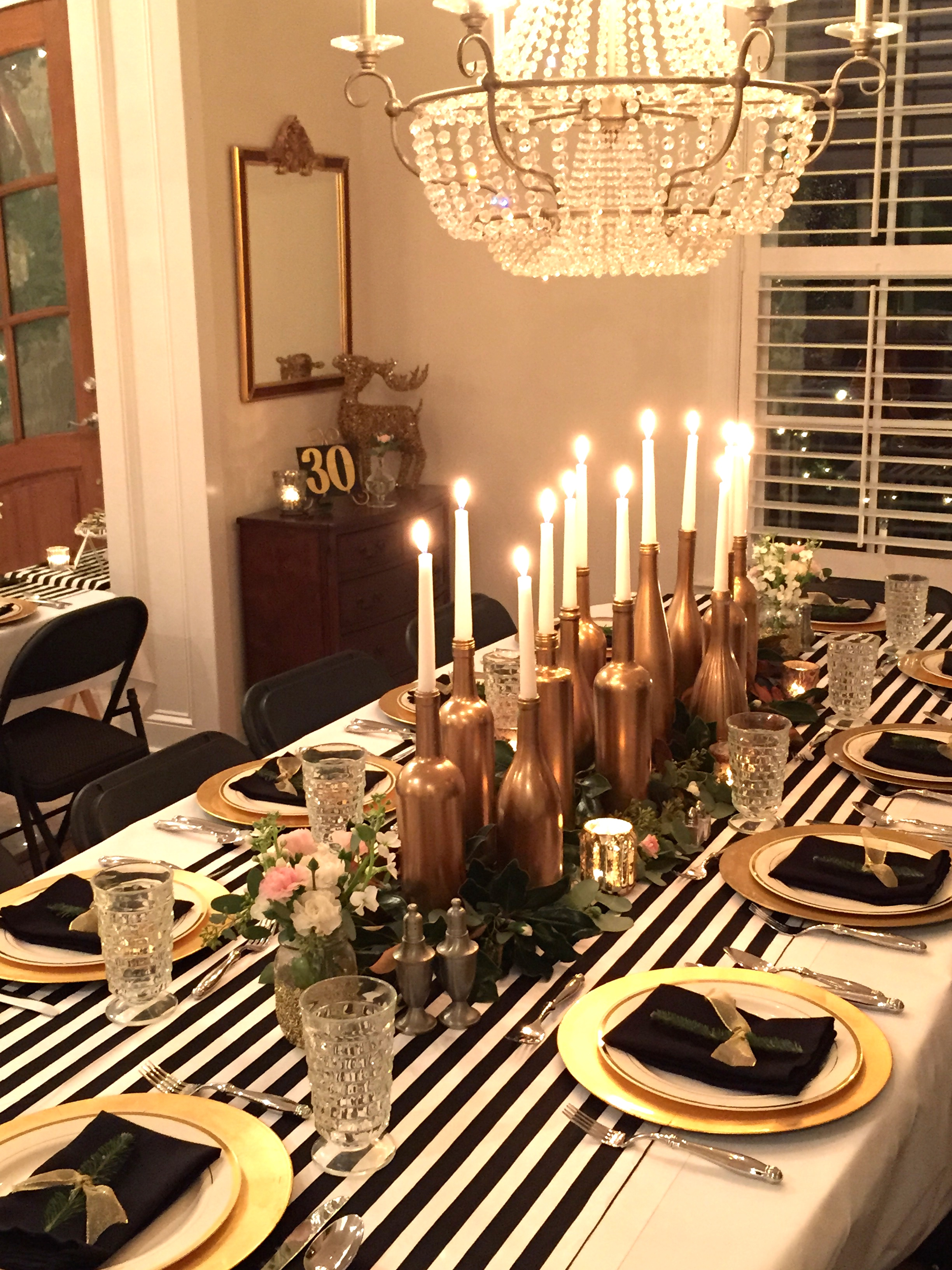 Gold, Black, And White: My 30th Birthday Dinner Party   SevenLayerCharlotte