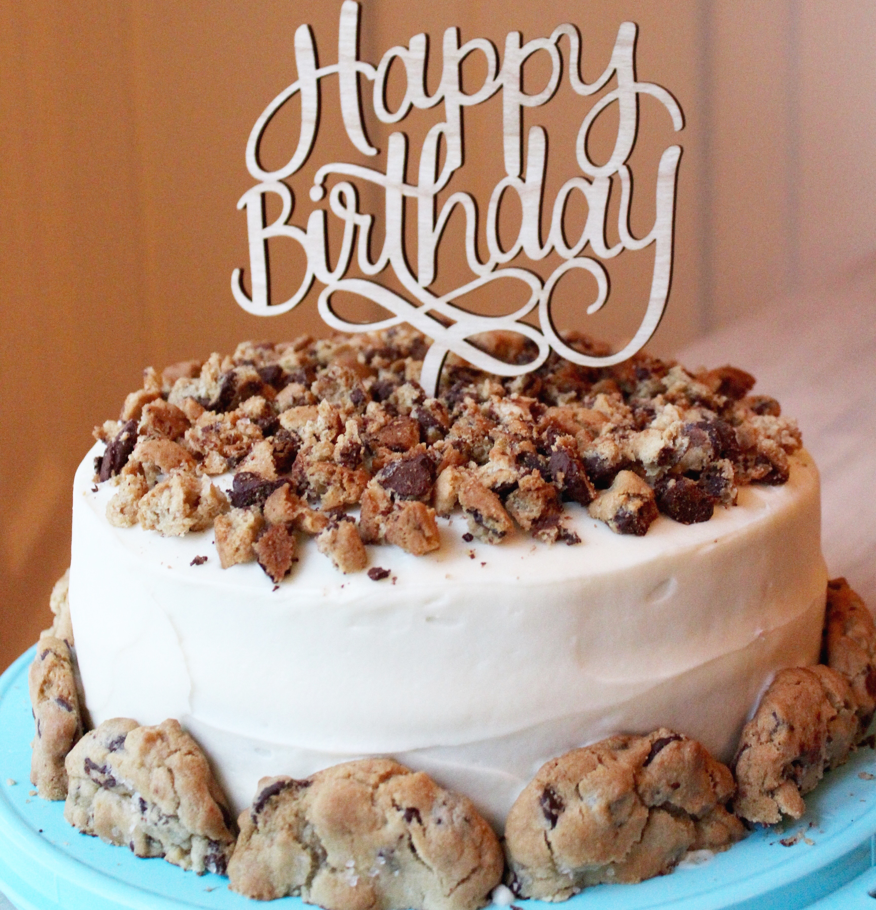 Chocolate Cake With Chocolate Chip Cookie Layer