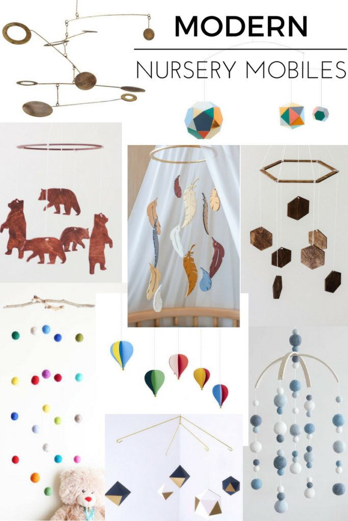 nursery mobiles for a modern baby room