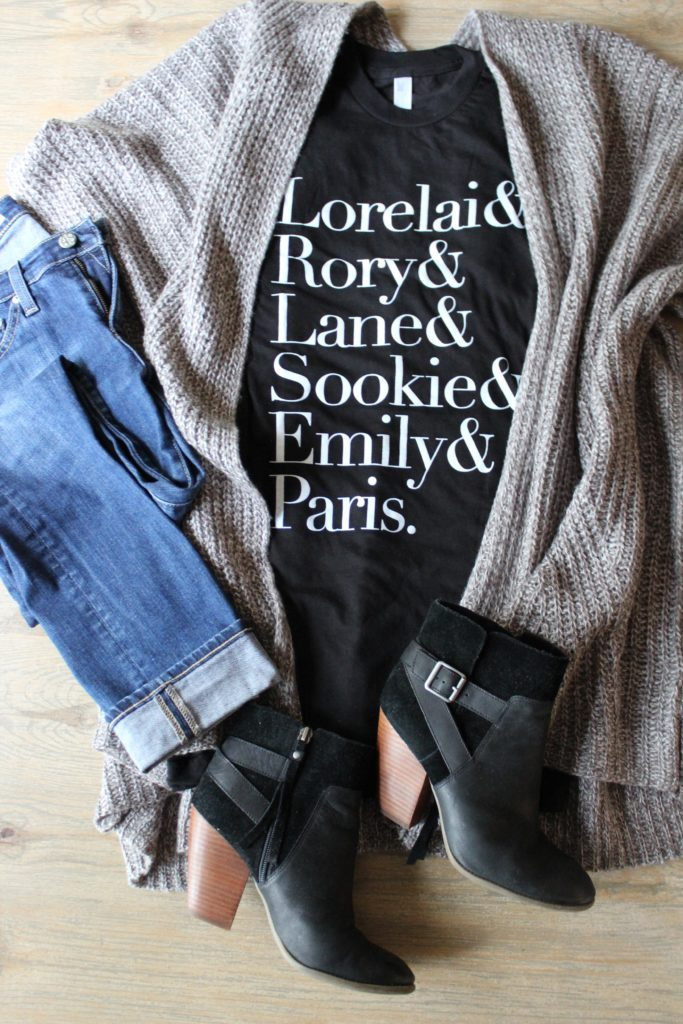 Gilmore Girls t-shirt outfit