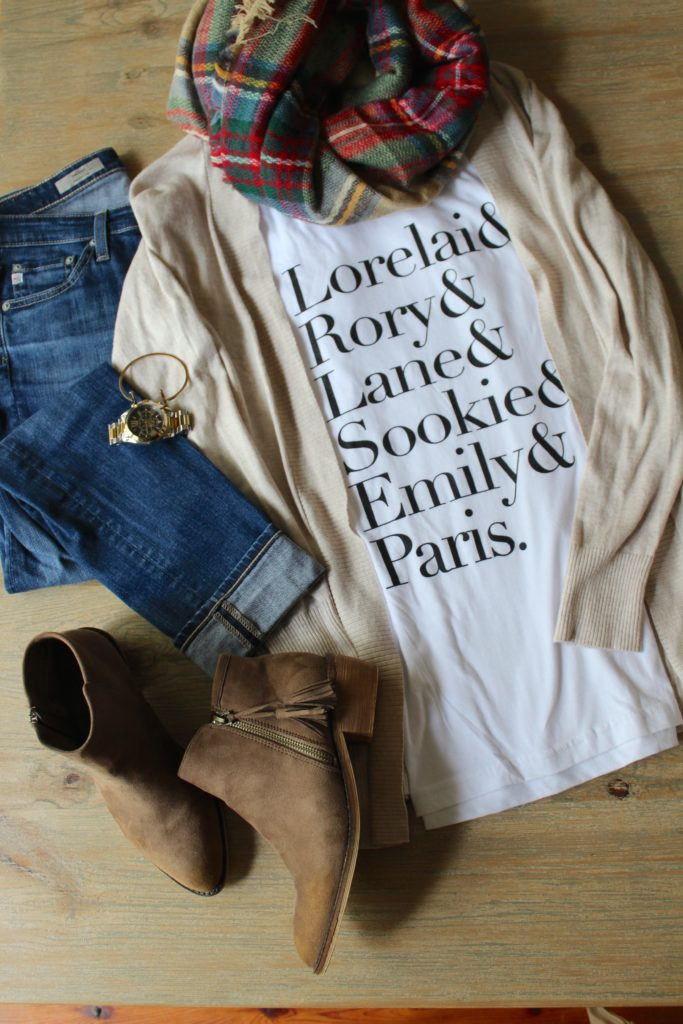 how to style a graphic t-shirt; fall fashion