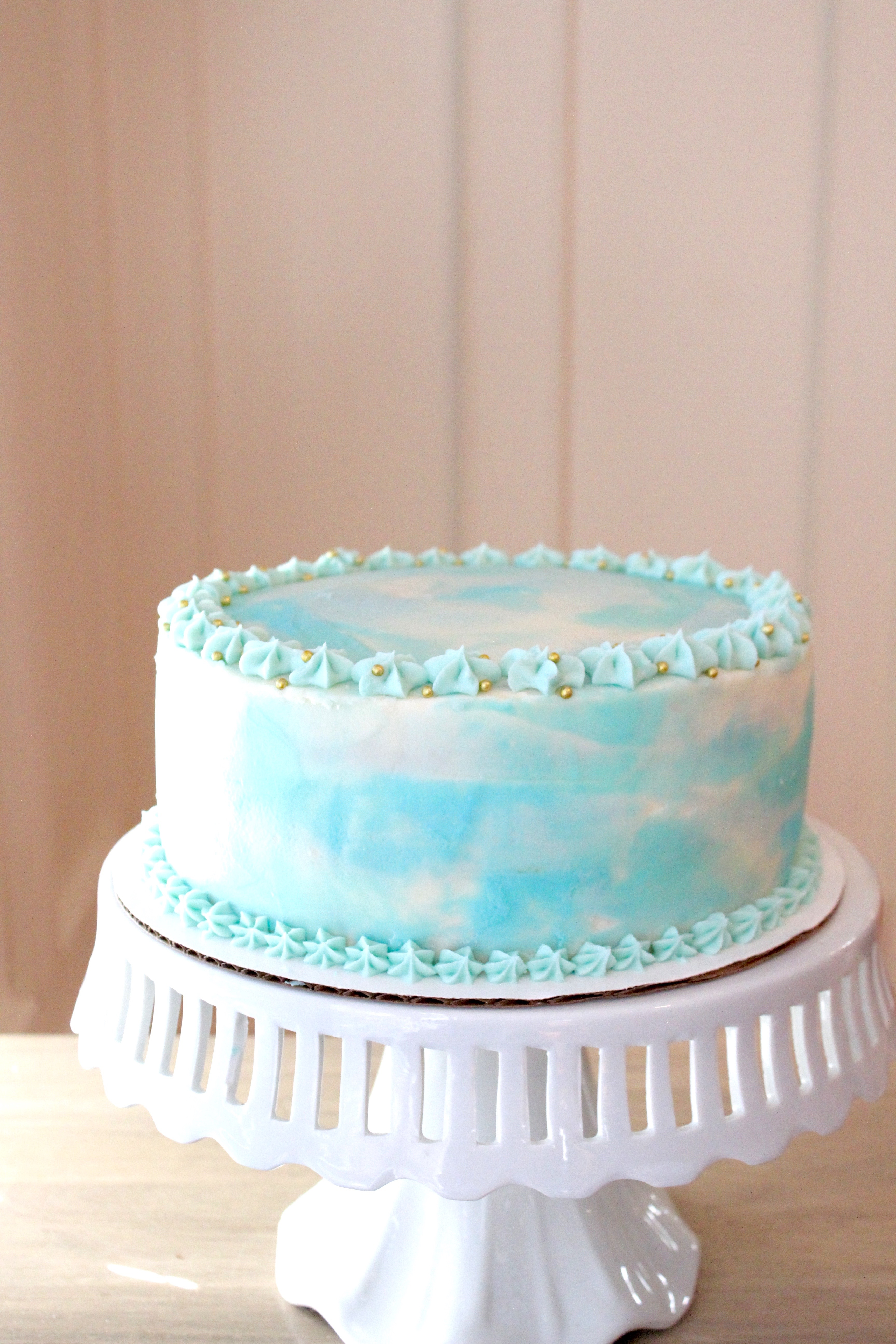 Watercolor Birthday Cake Tutorial Sevenlayercharlotte